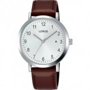 Lorus Montre-bracelet Lorus RH937JX-9 Brown Leather Strap Quartz/inox