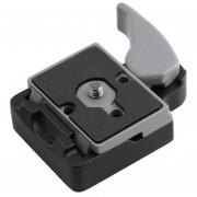 EW Cámara de liberación rápida 323 adaptador de abrazadera Manfrotto 200PL-14 Compat Placa