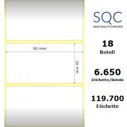 Etichette SQC - Carta patinata (bobina), formato 50 x 26