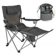 HI Луксозен къмпинг стол с поставка за крака, антрацит