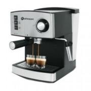 Ръчна еспресо машина Rohnson R 972, 850W, 15 bar, двоен филтър от неръждаема стомана за перфектен каймак, дюза за капучино, сребриста