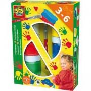 Комплект бои за оцветяване с пръсти, 6 цвята, SES, 080029