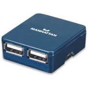 Hub USB Micro 4 porturi (Albastru)