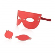 Cuero Roja Móviles Gafas Ventanas Hombres Y Mujeres Ligar Burlesca