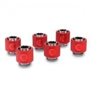Pachet 6 bucati fitinguri compresie EK Water Blocks EK-ACF 13/10mm Red