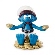 Schleich Treasure Smurf Toy Figure