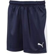 Puma Liga Jr Pantalones Cortos para Hombre, Blanco (Peacoat/Puma White), Small