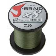 Fir impletit DAIWA J-BRAID verde inchis 8 BRAID 1500M 0, 24MM