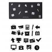 Office Icons till Anslagstavla 20-pack, Black