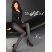 Gabriella - Opaque diamond patterned tights Tosca, 60 den