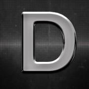 Krómozott betű D 27x27mm 201047