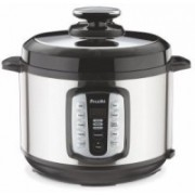 Preethi Touch 5 Ltr Electric Pressure Electric Rice Cooker with Steaming Feature(6 L, Black)