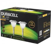 Duracell 2Pk 7.5 Lumen Solar LED Pathway Lights (GL002NP2DU)