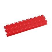 Červený vinylový plastový nájezd 2015 (diamant), Fortelock, 02 - délka 51 cm, šířka 14 cm a výška 0,7 cm