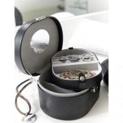 Onyx ékszertartó koffer, fekete