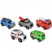 Детска играчка, Той стейт - Работни коли в града, 5 броя в комплект, 063119