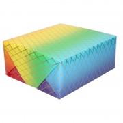 Shoppartners Inpakpapier/cadeaupapier regenboog kleuren 200 x 70 cm