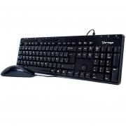 Kit Teclado y Mouse VORAGO 104 Negro USB KM-104