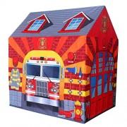 Sajani Fire Station Play Tent Kids Pretend Playhouse