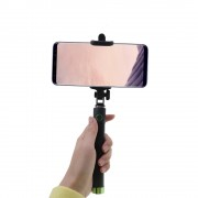 Shop4 - Samsung Galaxy S8 Plus Selfie Stick Bluetooth Groen