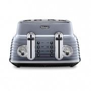 DeLonghi CTZ4003.GY Scultura 4 Slice Toaster - Grey