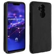 Forcell Wallet Funda Cartera Negro para Huawei Mate 20 Lite