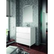 Salgar Mobile bagno 800 in legno laccato bianco lucido con lavabo Arenys