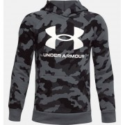 Under Armour Boys' UA Rival Fleece Printed Hoodie Black YXL