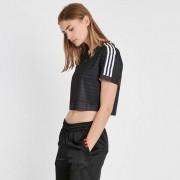 Adidas Crop Top Black/White/Bold Orange