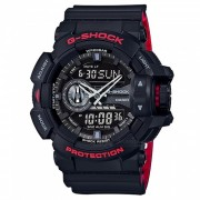 reloj digital casio g-shock GA-400HR-1A-negro + rojo
