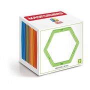 MAGFORMERS Hexagon (12 Piece) Building Set, Rainbow