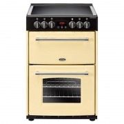Belling Farmhouse 60E Cream Ceramic Electric Cooker with Double Oven