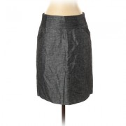 Calvin Klein Casual Skirt: Gray Solid Bottoms - Size 4 Petite
