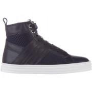 Hogan Rebel High Top Sneakers Leather R 141 Blue