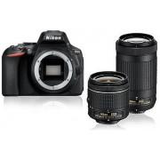 Aparat Foto D-SLR Nikon D5600, Obiectiv AF-P 18-55 mm VR + AF-P 70-300 mm VR, 24.2 MP, Filmare Full HD, WiFi, NFC (Negru)
