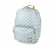 The Pack Society Classic Backpack White dots allover Grijs