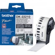 Лента Brother DK-22210 Roll White Continuous Length Paper Tape 29mmx30.48M (Black on White) - DK22210