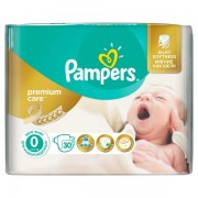 Scutece Pampers 0 New Baby Premium Care sub 2.5kg (30)buc