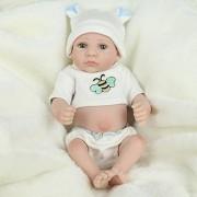 RITZKART 12 inch Full Vinyl Reborn Realistic White Skin Boy Baby Doll Kids Toys