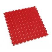 Červená vinylová plastová zátěžová dlaždice Industry 2010 (diamant), Fortelock - délka 51 cm, šířka 51 cm a výška 0,7 cm