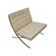 Famous Design Chaise Barcelona - Crème