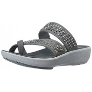 Clarks Women's Wave Bright Silver Fashion Sandals - 6 UK/India (39.5 EU)
