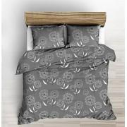 220x240 cm 3 részes exkluzív ágytakaró szett - szürke barokk