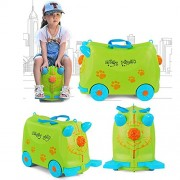 Toys Bhoomi 2 in 1 Push & Pull Along Ride-On Travel Luggage Case for Junior World Travelers (Green)