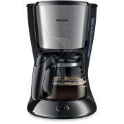Cafetiera Philips Daily Collection HD7435/20, AromaSwirl, 700 W, 600 ml, Negru/Inox
