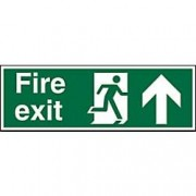 Unbranded Fire Exit Sign Up Arrow Plastic 15 x 45 cm