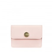 Maxwell-Scott rosa Damen Leder Visitenkartenhalter- Portofino Nappa