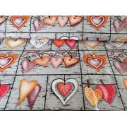 Pamut 160 cm széles textil - méteráru gyerek mintás - rózsaszín - piros macis