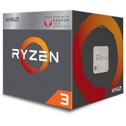 AMD CPU RYZEN 3 AM4 2200G 3.5GHz - 3.7GHz QUAD CORE 4MB CACHE 64 BITS 65WAT GPU Radeon RX Vega 8 BOX