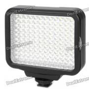 Lampara de video de luz blanca 9W 120-LED con filtro para camara / videocamara